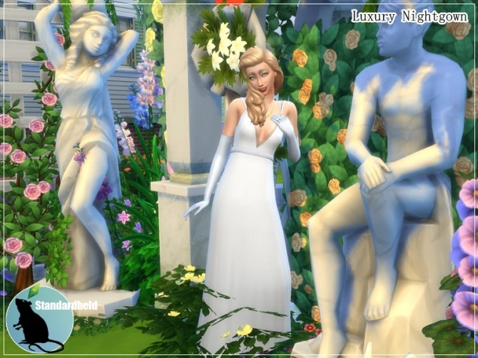 Sims 4 Luxury Nightgown by Standardheld at SimsWorkshop