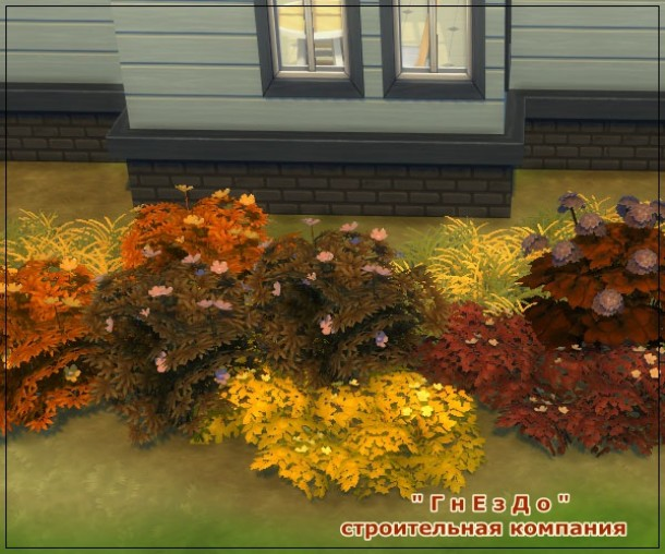 Sims 4 Autumn flowers vegetation at Sims by Mulena