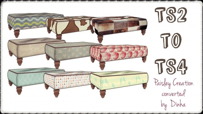 Paisley Ottoman Coffeetable (TS2 to TS4) at Dinha Gamer image 18112 670x377 Sims 4 Updates