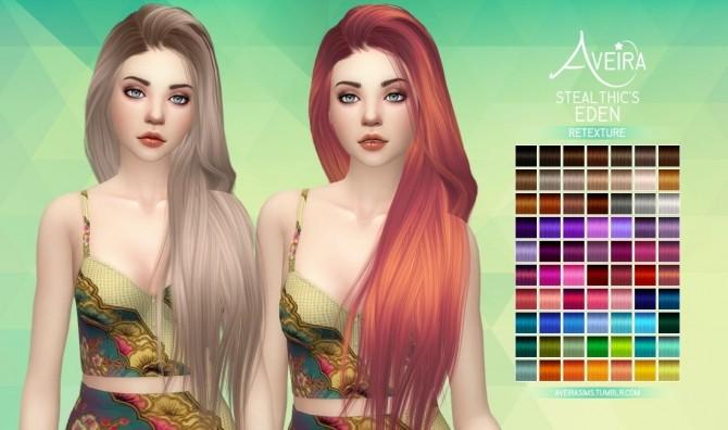 Sims 4 Stealthic's Eden Hair Retexture at Aveira Sims 4