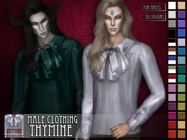 Sims 4 Thymine male clothing HQ and non HQ by RemusSirion at TSR