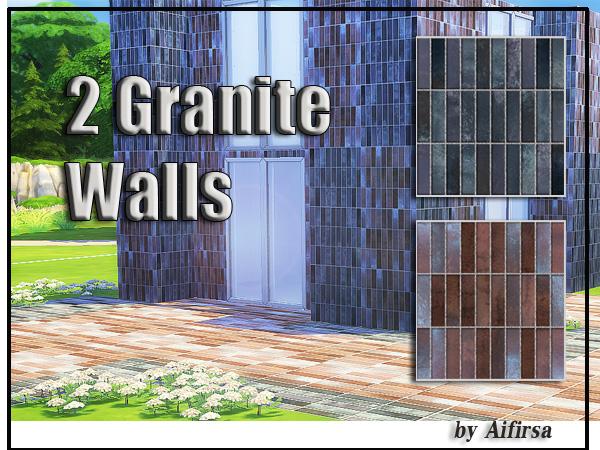 Sims 4 Deco Rock Granite Walls by Aifirsa at Lady Venera