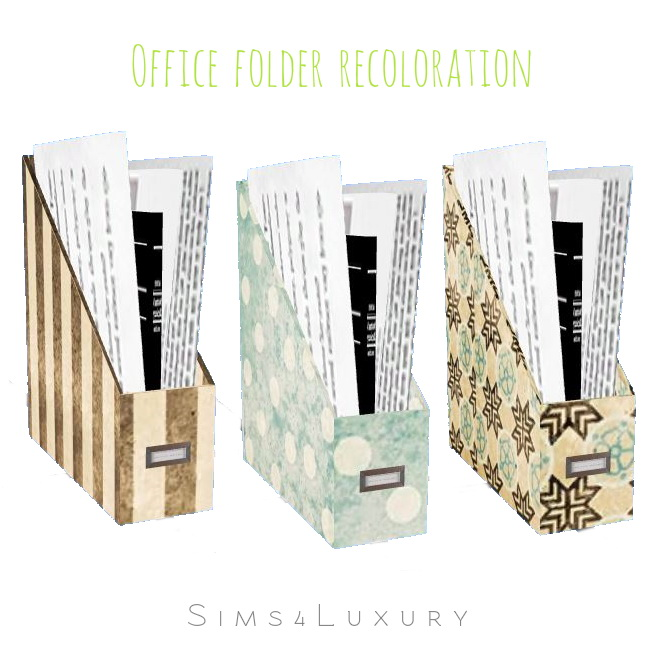 Sims 4 Office folder recoloration at Sims4 Luxury