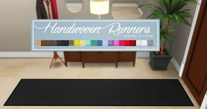 Handwoven Runners at Onyx Sims image 1858 670x355 Sims 4 Updates