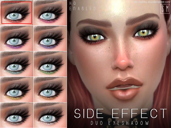 Sims 4 Side Effect Duo Eyeshadow by Screaming Mustard at TSR