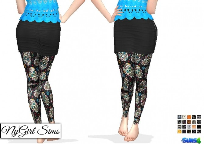 Halloween Themed Leggings at NyGirl Sims image 1888 670x473 Sims 4 Updates