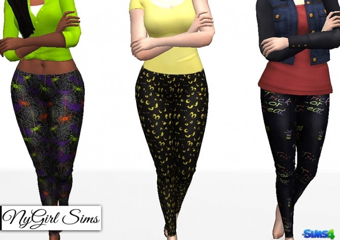 Halloween Themed Leggings at NyGirl Sims image 1898 670x473 Sims 4 Updates