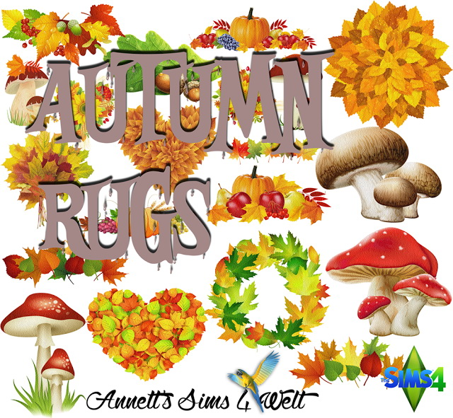 Sims 4 Autumn Rugs at Annett's Sims 4 Welt