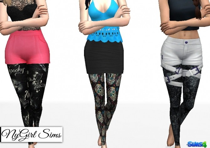 Halloween Themed Leggings at NyGirl Sims image 1908 670x473 Sims 4 Updates