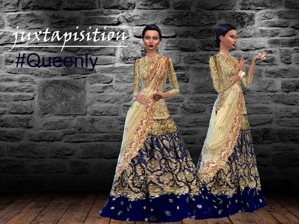 Queenly Gown By Juxtaposition At Tsr 187 Sims 4 Updates
