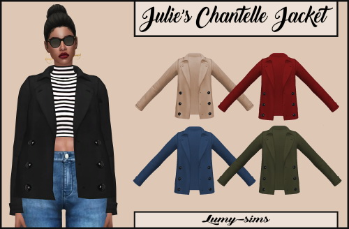 Sims 4 Julie's Chantelle Jacket Accessory at Lumy Sims