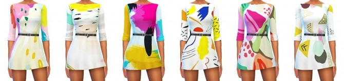 Veranka s4ccs leslie dress recolors at 4 Prez Sims4 image 2022 670x158 Sims 4 Updates