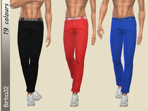 Sims 4 Man Colorful pants by Birba32 at TSR