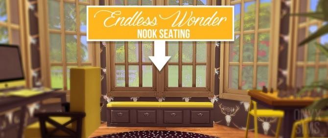 Endless Wonder Nook Seating by Kiara Rawks at Onyx Sims image 2036 670x283 Sims 4 Updates
