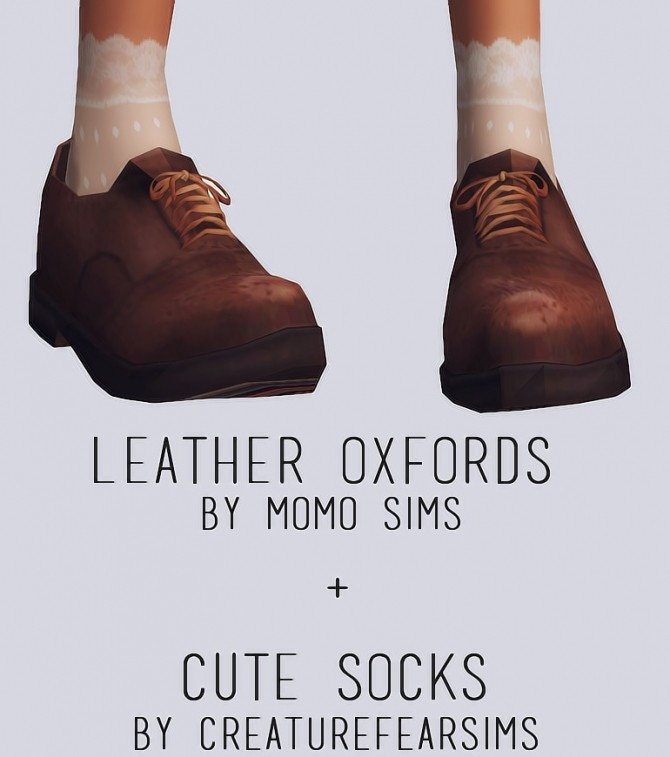 Leather Oxfords + Cute socks at Elliesimple image 2047 670x757 Sims 4 Updates