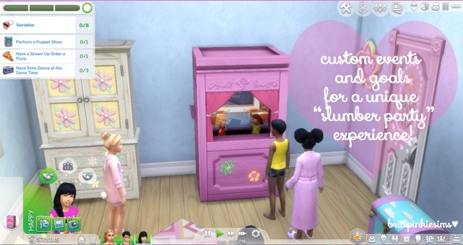 Slumber Party Mod at Brittpinkiesims image 2071 670x355 Sims 4 Updates