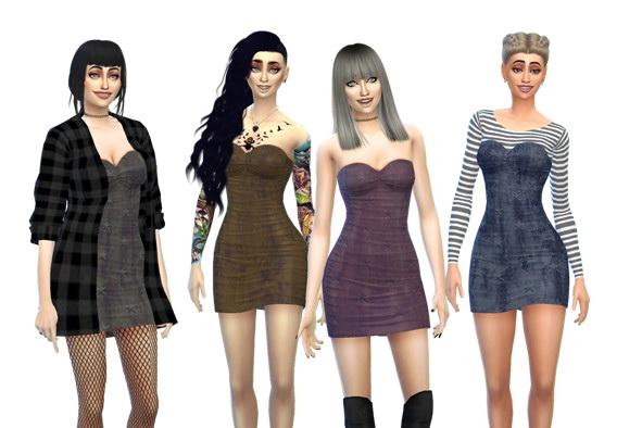 Sims 4 GRUNGE DRESS at RaRa SIMS