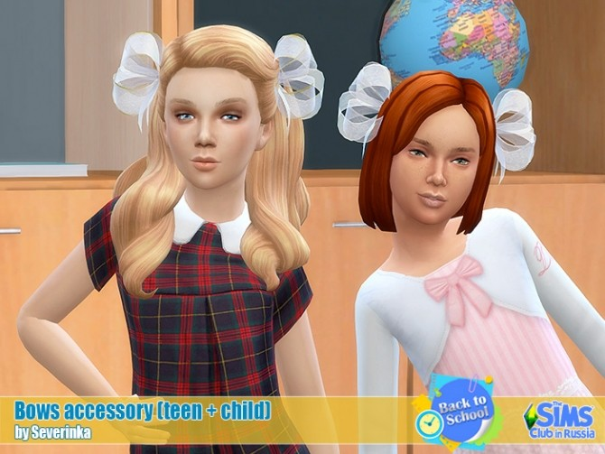 School hair bows at Sims by Severinka image 210 670x503 Sims 4 Updates