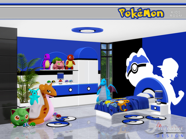 Pokemon Kids' Room by NynaeveDesign at TSR » Sims 4 Updates