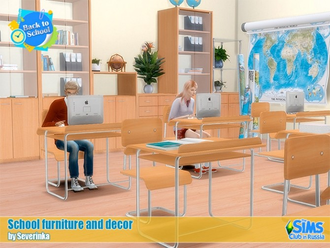 School furniture and decor set 02 at Sims by Severinka image 211 670x503 Sims 4 Updates