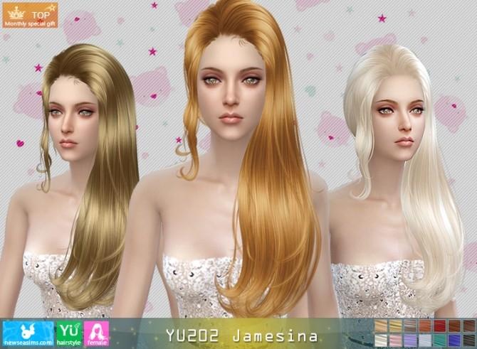 Sims 4 YU202 Jamesina hair (Pay) at Newsea Sims 4
