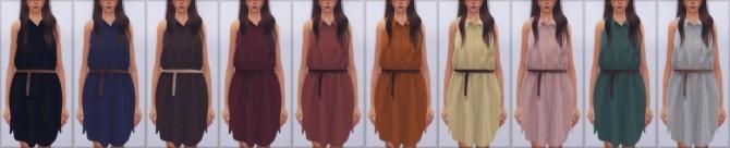 Sims 4 Shirt Dress (Meganrosesims) at Elliesimple