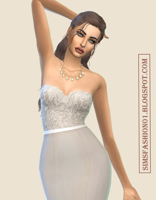 Lovely Lace Evening Dresses at Sims Fashion01 image 2238 Sims 4 Updates