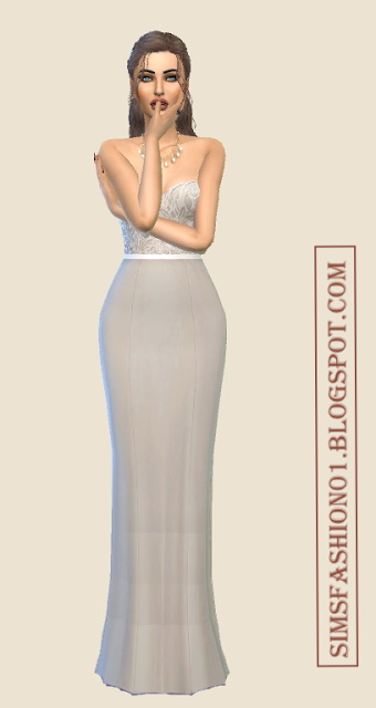 Lovely Lace Evening Dresses at Sims Fashion01 image 2247 Sims 4 Updates