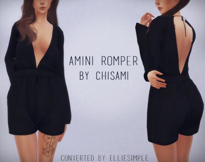Amini Romper Chisami At Elliesimple 187 Sims 4 Updates