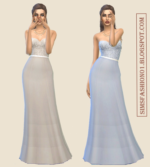 Lovely Lace Evening Dresses at Sims Fashion01 image 2258 Sims 4 Updates