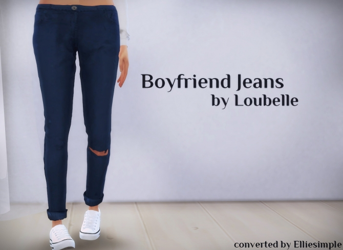 Boyfriend Jeans Loubelle At Elliesimple 187 Sims 4 Updates