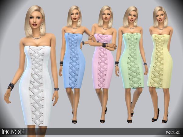 Sims 4 Incroci dress by Paogae at TSR