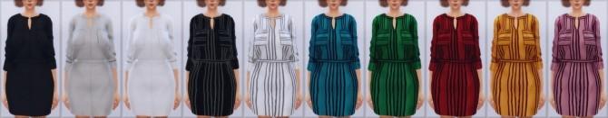 Sims 4 Striped Shirt Dress (Chisami) at Elliesimple