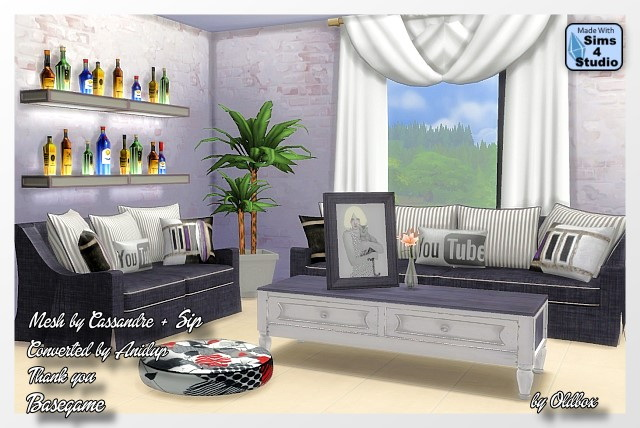 Sims 4 Living room recolors by Oldbox at All 4 Sims