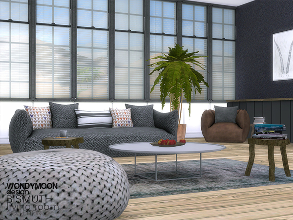 Sims 4 Bismuth Living Room by wondymoon at TSR