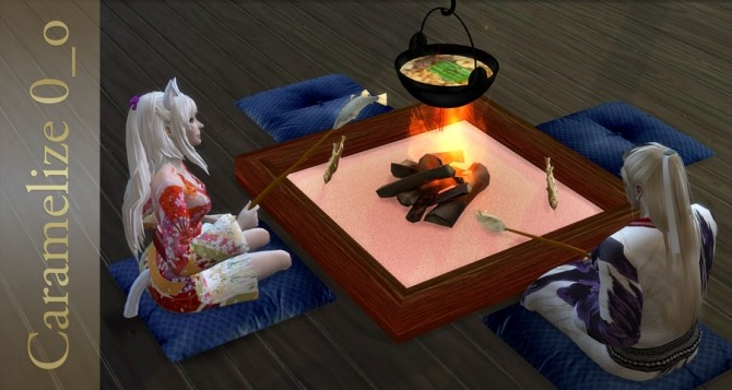 Indoor Campfire (clutter) at Caramelize image 26110 670x357 Sims 4 Updates