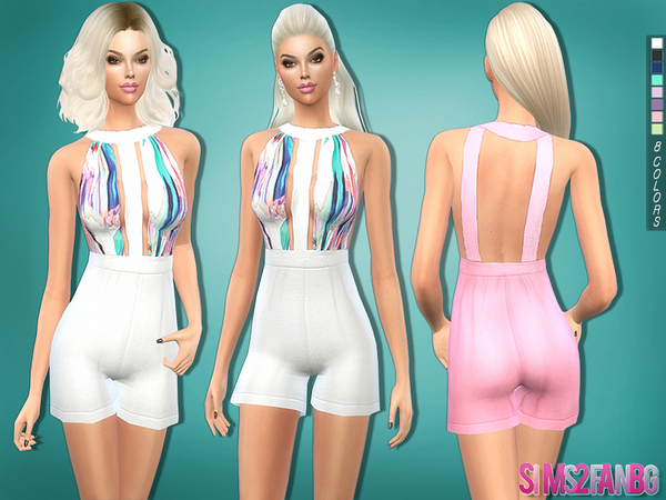 Sims 4 Colorful romper by sims2fanbg at TSR