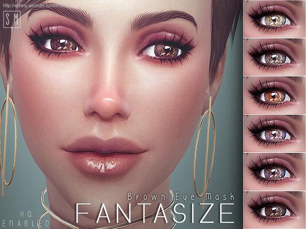 Fantasize Brown Eye Mask by Screaming Mustard at TSR image 2624 Sims 4 Updates