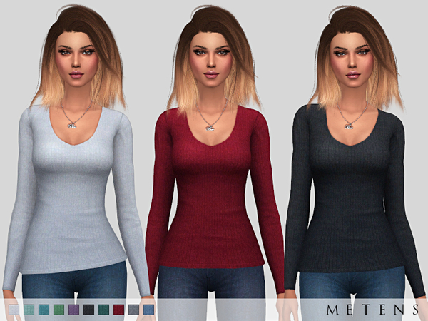 Sims 4 Thornhill Top by Metens at TSR