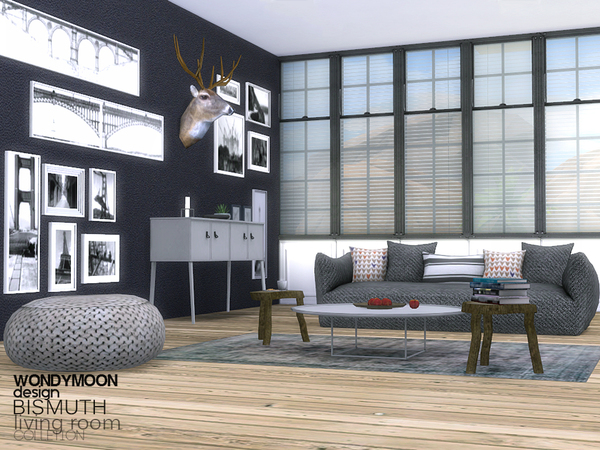 Bismuth Living Room By Wondymoon At Tsr 187 Sims 4 Updates