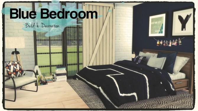 Blue Bedroom At Dinha Gamer 187 Sims 4 Updates