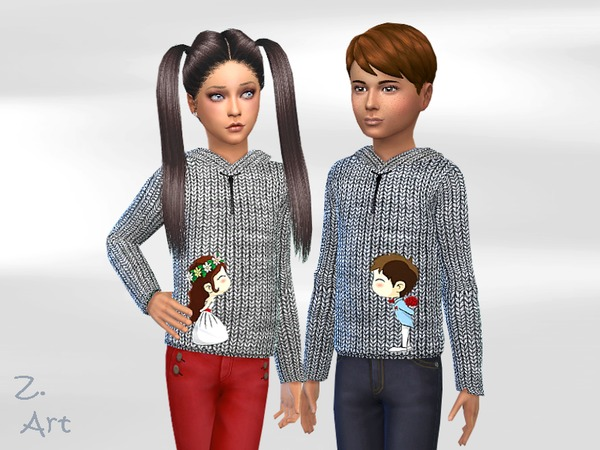 Sims 4 In Love hoodie by Zuckerschnute20 at TSR