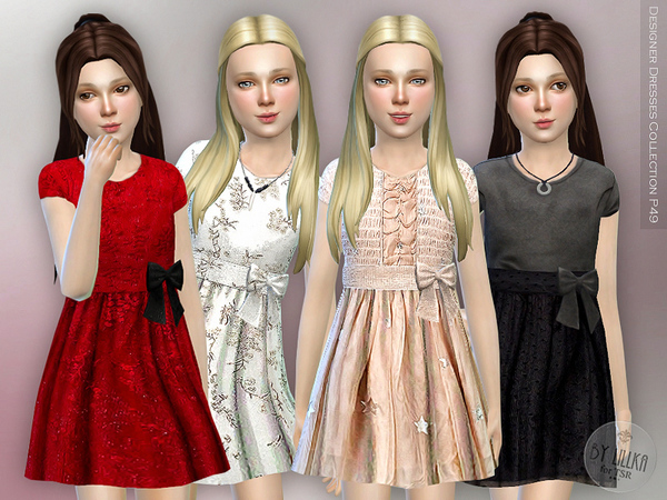 Sims 4 Designer Dresses Collection P49 by lillka at TSR