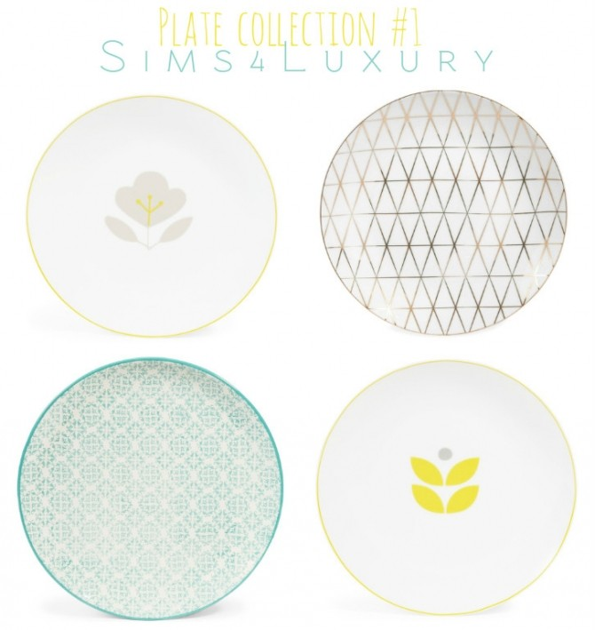 Sims 4 Plate collection #1 at Sims4 Luxury
