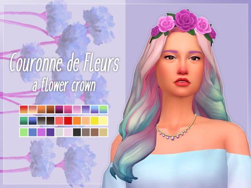 Sims 4 Flower crown at Nolan Sims
