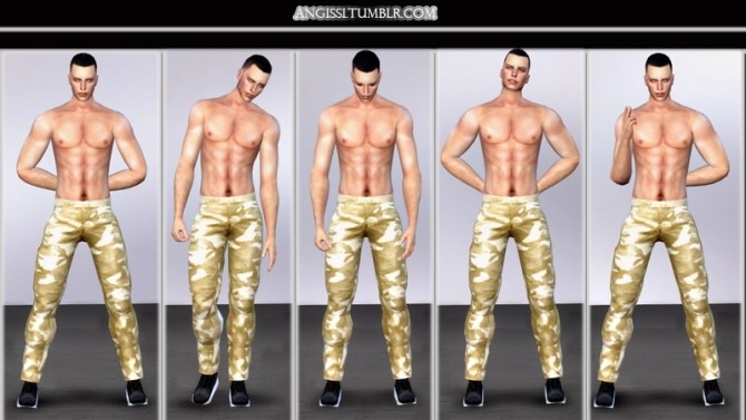 Sims 4 Male poses pack MAN at Angissi