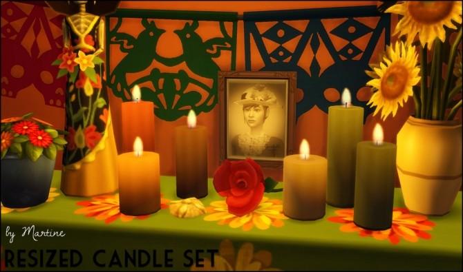 Resized candle set at Martine's Simblr image 2784 670x395 Sims 4 Updates
