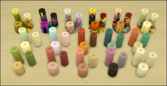 Resized candle set at Martine's Simblr image 2793 670x347 Sims 4 Updates