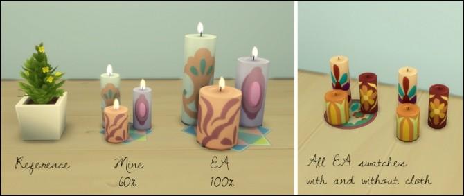 Resized candle set at Martine's Simblr image 2803 670x283 Sims 4 Updates