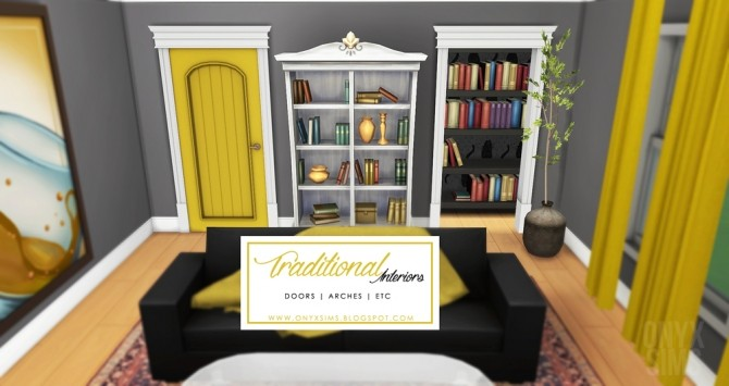Sims 4 Traditional Interiors doors and arches at Onyx Sims
